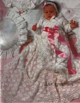 Вязание крючком платьев из ириса.