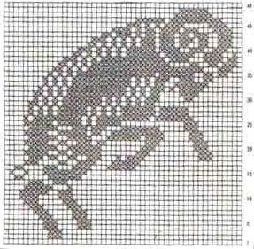Филейное вязание крючком.  Схема салфетки Знаки зодиака - Овен.