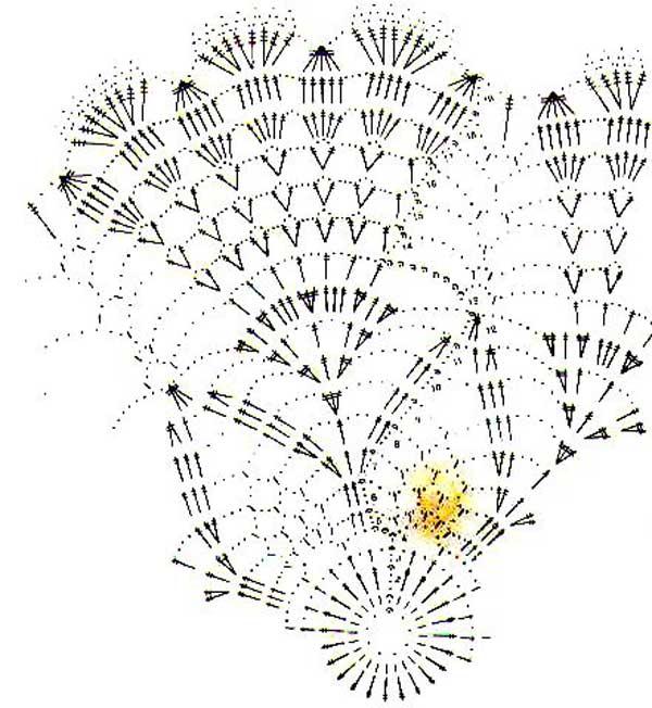вязание овальной крючком салфетки со схемами, вязание жакетов косами.