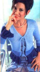 Вязание спицами. Женский короткий жакет.