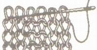 Закрытие петель последнего ряда иглой для резинки 2х2